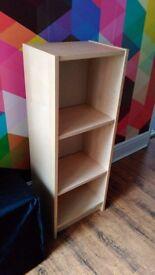 Ikea Billy bookcase in beech veneer, 40x28x106cm