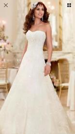 Brand new Stella York Organza wedding dress size 18