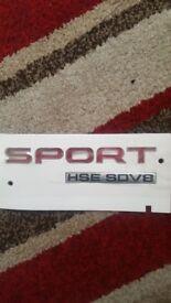 Range rover sports sticker sign