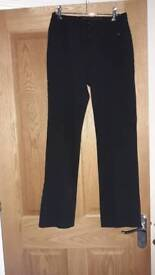 New girls black school trousers age 13-14 years
