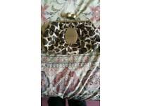 Ladies Fiorelli leopard print clutch bag