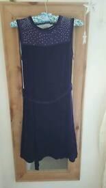 BHS girls size 13 to 14 years velvet dress
