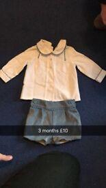 boys spanish shirt set 3 month