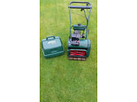 "Atco 14"" Cylinder Mower, Petrol. Electric start. VGC New Battery, Service / Sharpened"