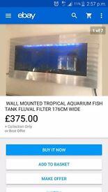 Wall mounted fish tank 4ft