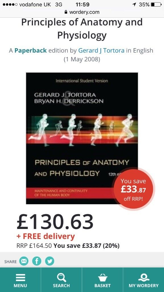 Tortora Derrickson Principles Of Anatomy And Physiology In