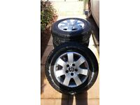 VW T5 alloy wheels and tyres
