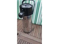 Thermos Push Button Pump Pot Tea Coffee Flask Camping - Used Once! RRP £30+