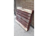 Wooden pallet - free Measures 120w x 100L x 16D