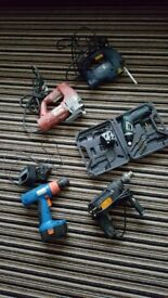 JOBLOT 5 X POWER TOOLS WORKING
