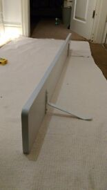 White long radiator shelf. Fits over most radiators - no fixings required.