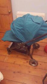 £200 Teal Armadillo Flip Mamas & Papas Pushchair Parent/Front Facing WITH EXTRAS