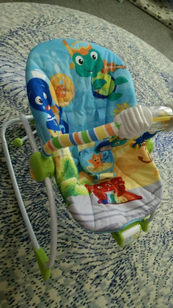 fce7cac13119 Baby Einstein Rhythm of the Reef Rocker Bouncer Chair