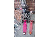 Pink micro scooters