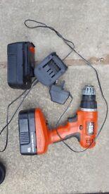 Black and Decker 18 volt battery drill