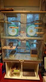 Double storey small animal cage & stand/storage- rats,degu, prairie dog