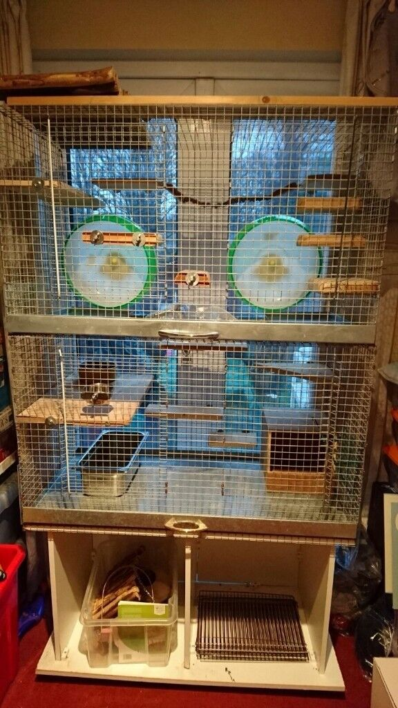 Double Storey Small Animal Cage Stand Storage Rats Degu Prairie