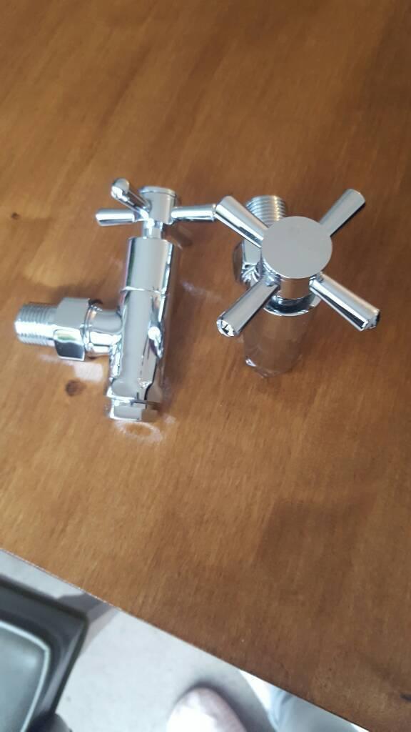 Brand new chrome radiator valves