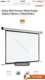 Pull down wall projector