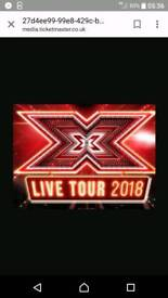X factor live 20th February 2 brilliant tickets.