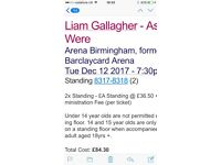 Liam Gallagher standing tickets