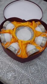 Prima 12 piece tea set brand new in a heart shaped box.