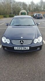 Blue 2003 5l V8 Mercedes Benz CLK 500 Automatic Coupe For Sale £6000 ONO