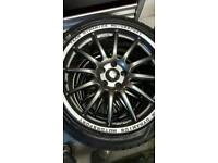 """VAUXHALL FITMENT TEAM DYNAMICS MOTORSPORT 18"""" ALLOY WHEELS AND TYRES"""