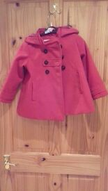 Girls coat from Next, age 4-5, excellent condition