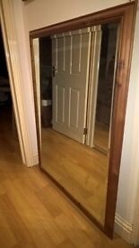 "Mirror in wooden frame in metric 1030x1350mm or in inches 40""x53"""