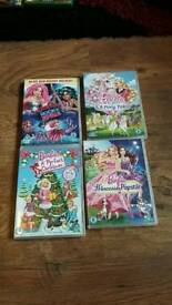 Collection of barbie dvds.