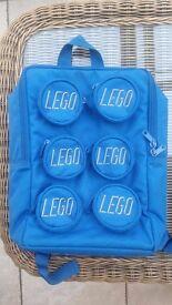Royal Blue Kids Canvas Lego Backpack 22 x 30 cm