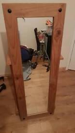 Pine long mirror