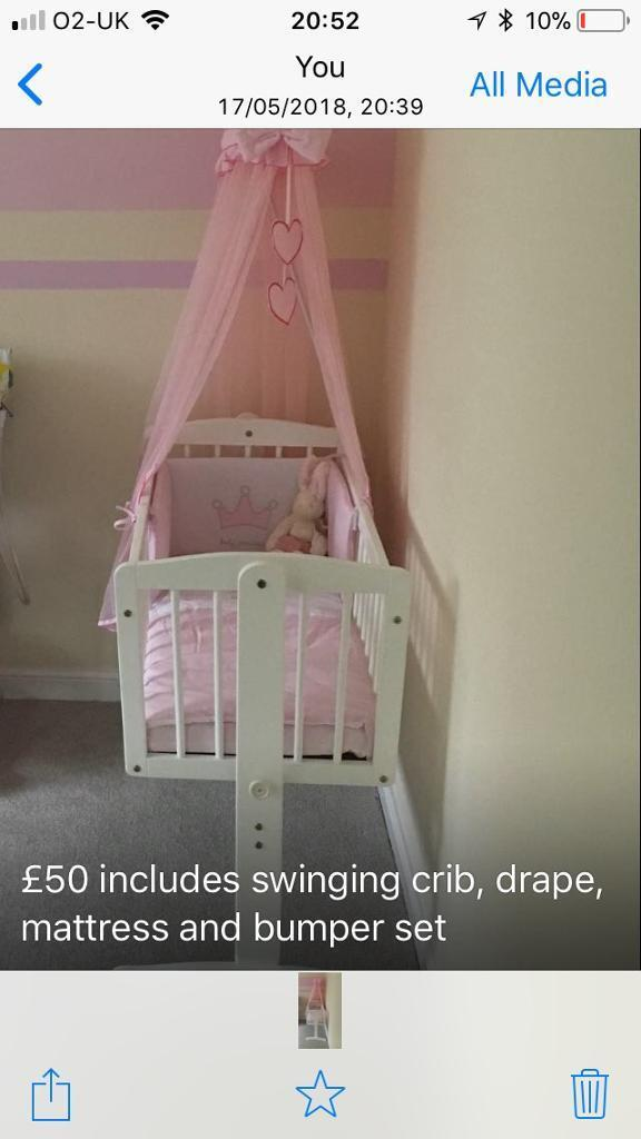 Now Reduced Swinging Crib Bargain 40 In Wishaw North