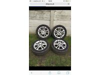 Vauxhall corsa D Ally wheels with new tires