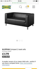 Ikea leather like couch