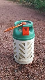 10kg propane gas canister for outdoor heaters/BBQs etc - third full