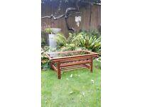 Wicker Boho vintage coffee table