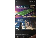 Table top tennis and chess