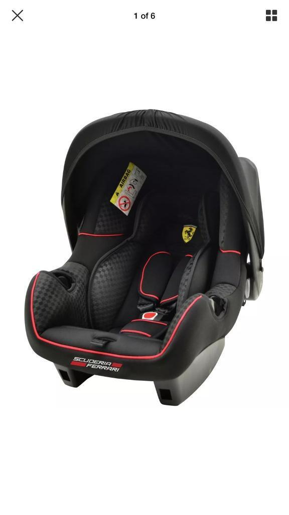 GENUINE SCUDERIA FERRARI 0 INFANT BABY CARRIER CAR SEAT