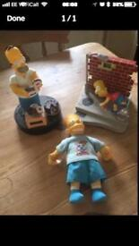 Simpsons toys clock