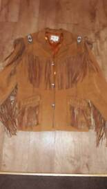 Men's Scully Indian Suede Jacket Size XL