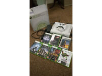 Microsoft XBox 360 console with controller and selection of top games. Collect from Ipswich.