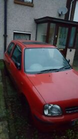 Nissan Micra 2000 For Repairs or Parts