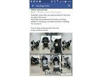 Mothercare pushchair car seat and base bundle