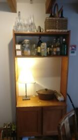 Solid wood dresser with large cupboard