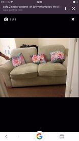 New 2 seaters fabric sofa.