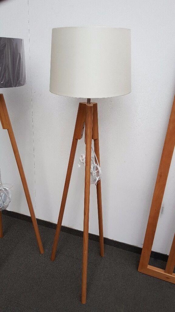 John lewis hampstead wooden tripod floor lamp ash