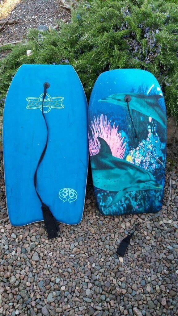 2 Used Surf Body Boards For The Beach