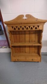 Lovely pine kitchen display cabinet